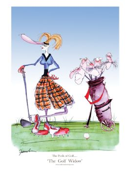 The Golf Widow - signed print